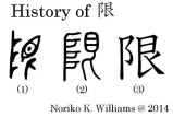 History of The Kanji  限