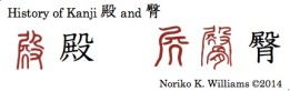 History of the kanji 殿 and 臀