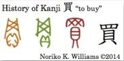 History of Kanji 買