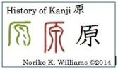 History of Kanji 原 (f)