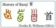 History of Kanji 首(f)
