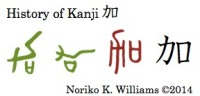 History of the kanji 加