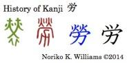 History of the kanji 労