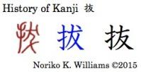 History of Kanji 抜