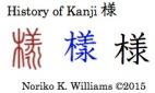 History of Kanji 様