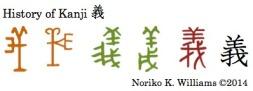 History of Kanji 義