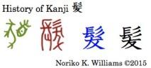 History of Kanji 髪