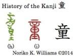 History of the kanji 童