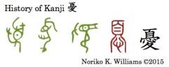 History of Kanji 憂