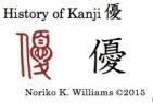 History of the kanji 優
