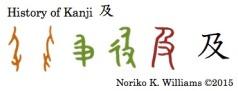 History of the kanji 及