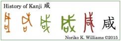 History of the kanji 咸