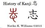 History of the kanji 志