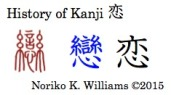 History of the kanji 恋