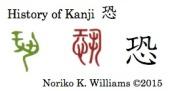 History of the kanji 恐