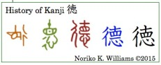 The History of the kanji 徳