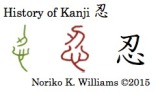 Historty of the Kanji 忍