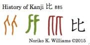 History of Kanji 比