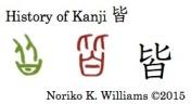 History of Kanji 皆