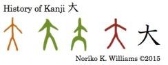 History of the kanji 大