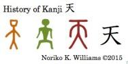 History of the kanji 天