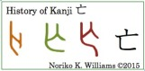 The History of the Kanji 亡