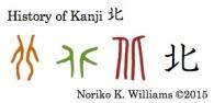 History of Kanji 北