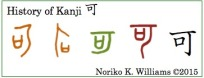 History of Kanji 可