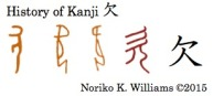 History of Kanji 欠