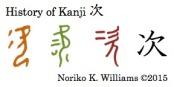 History of Kanji 次