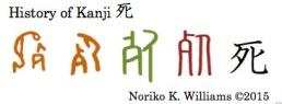 History of Kanji 死