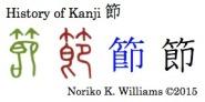 History of Kanji 節