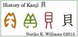 History of Kanji 貝(frame)