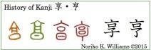 History of Kanji 享&亨