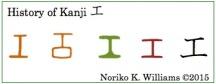 History of Kanji 工(frame)