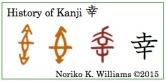 History of Kanji 幸 (frame)