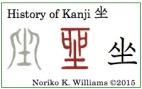 History of Kanji 坐(frame)