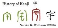 History of Kanji 宇