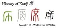 History of Kanji 席