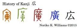 History of Kanji 広