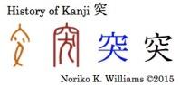 History of Kanji 突