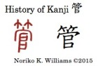 History of Kanji 管