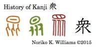History of Kanji 衆