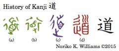 History of Kanji 道