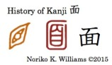 History of Kanji 面