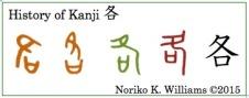 History of Kanji 各(frame)