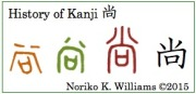 History of Kanji 尚(frame)