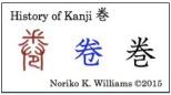 History of Kanji 巻(frame)