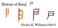 History of Kanji 戸