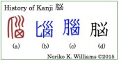 History of Kanji 脳(frame)